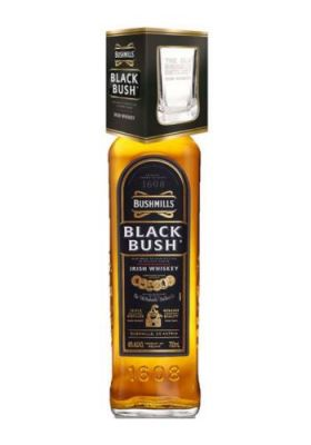 Bushmills Black Bush Whiskey<br>mit Glas