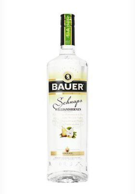 Williamsbirnen Schnaps 40%vol. <br>1,0 Ltr. Bauer Tradition